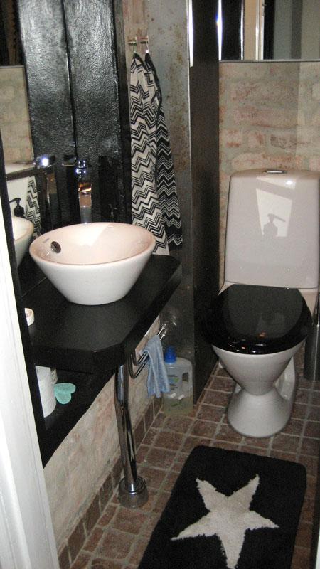 Vi satte in en högre toalett, skönare att sitta på inte bara för ...