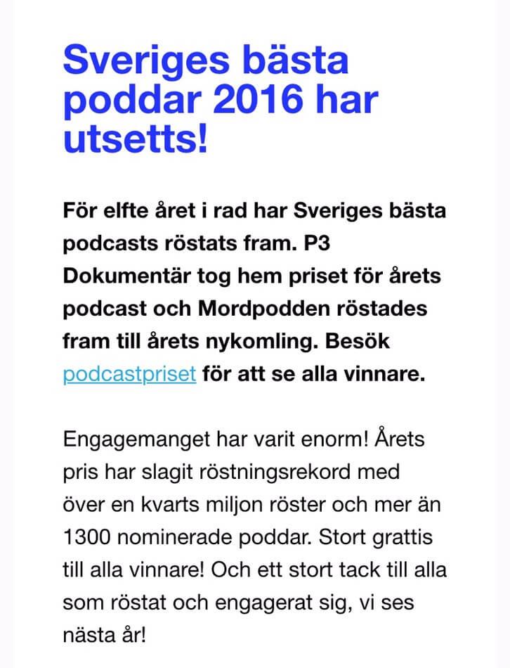 podcast som p3 dokumentär