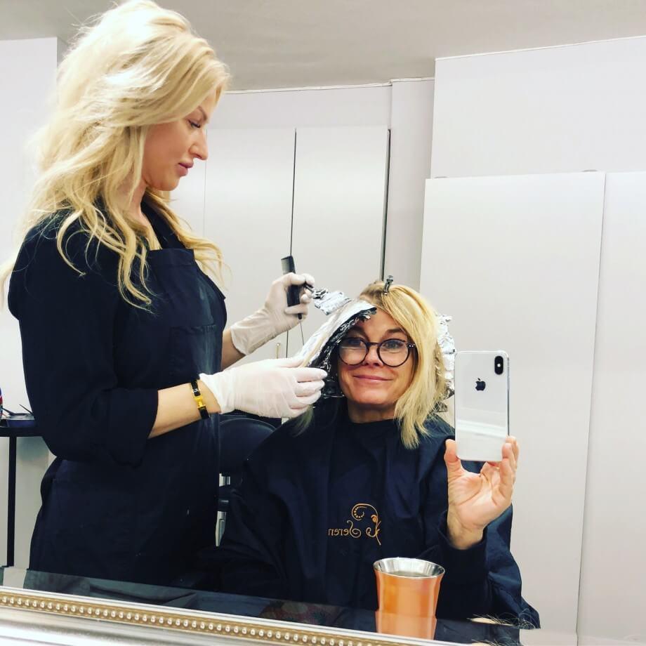 Nyfärgad i håret , 100-årsmiddag med Jennifer & Final i Mello för Benjamin!