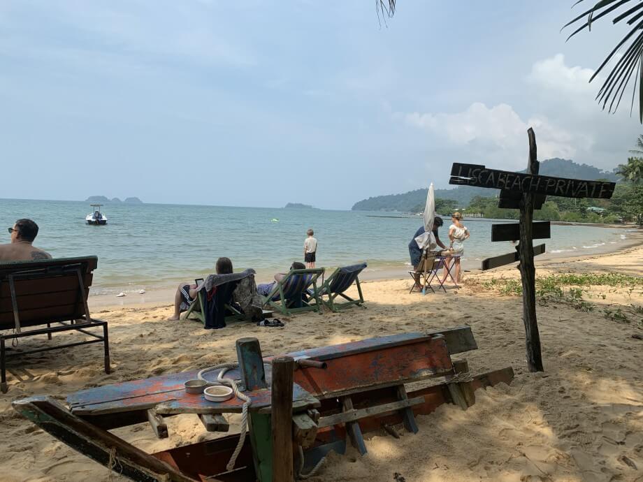 Bästa italienaren på en liten strand i Koh Chang!
